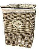Portabiancheria Vimini 46x35x58h per bucato per arredo casa Bagno Camera Laundry Basket (46x35x58h)