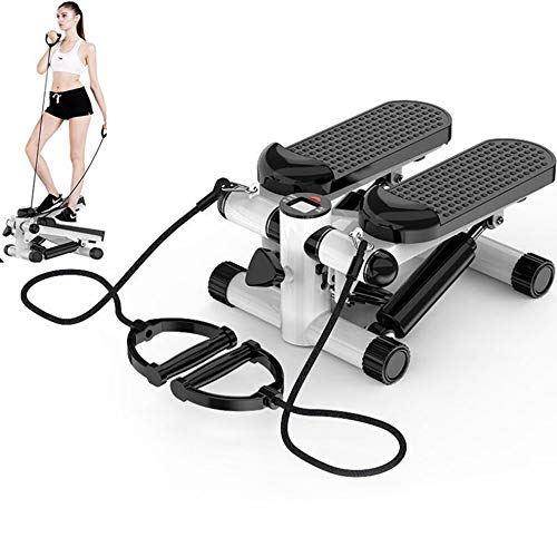 Mini Fitness Stair Stepper Air Climber Hydraulic Mute Step Machine with Resistance Bands (No Handle bar)