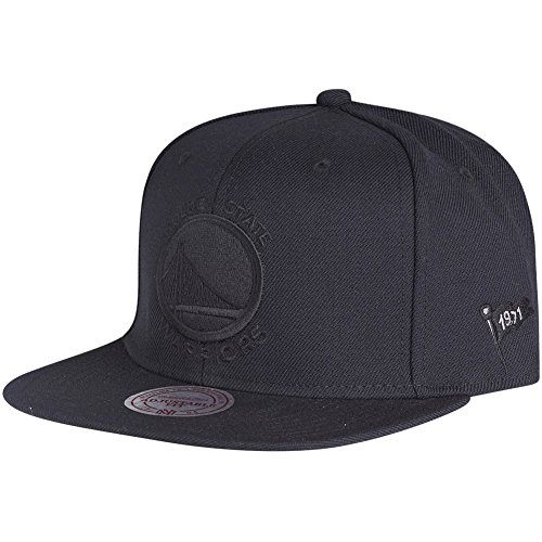 Mitchell & Ness Golden State Warriors Black on Black Snapback NBA Cap