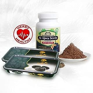 ZumZumstore Pack Of 2x Al Ajwa Dates 400g + Al Ajwa Seeds Powder