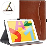ZtotopCase for New iPad 7th Generation 10.2 Inch 2019,Premium PU Leather Slim Folding Stand Cover with Auto Wake/Sleep,Multiple Viewing Angles for Newest iPad 7th Gen 10.2'' 2019,Brown