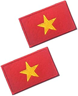 OYSTERBOY Asia Vietnam Country Flag Tactical Patch Hook & Loop (2pcs)