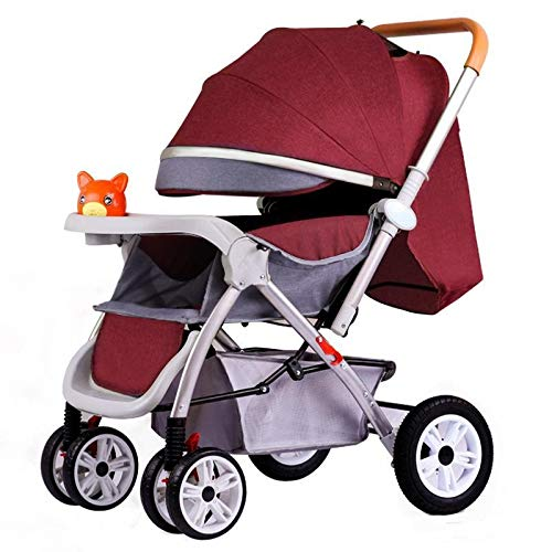 Great Deal! KHUY Lightweight Baby Strollers, Foldable Baby Pushchair, Buggy with Reversible & Adjust...