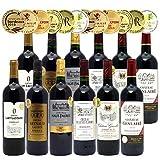 ヴェリタス シニアソムリエ厳選 全て金賞受賞名産地フランスボルドー 辛口 赤ワイン 12本セット ((W0DI29SE)) (750mlx12本 (6種類各2本) ワインセット)