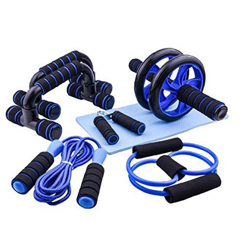 Rodillo Yoga Fitness Kit AB Wheel Comba De Banda De Resistencia Rodilla Equipo De Ratón para Hogar Fuerza Muscular