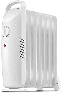 Lxn Versión mecánica Blanca Calentador de radiador de Aceite Lleno Mini termostato de Sitio eléctrico portátil, Ahorro de energía Interior (700W)