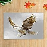 JHDF Alfombras de baño con impresión Digital Eagle Animales de fantasía Alfombras de baño Antideslizantes American Eagle y Sky Alfombrilla de baño Alfombrilla de baño 40 * 60 CM Accesorios de baño