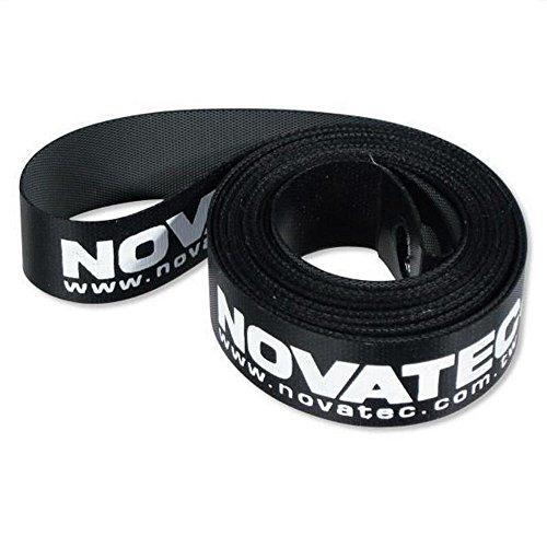 Novatec - Cinta para llanta de bicicleta (28 pulgadas, 16-20mm), color negro, tamaño 20 mm