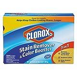 Clorox 2 03098 Stain Remover and Color Booster Powder, Original, 49.2oz Box (Case of 4)...