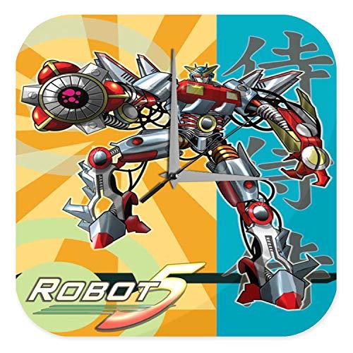 LEotiE SINCE 2004 Horloge Murale Signe DÈcoratif DrÙles Marke Manga Japon Robots Amusant Imprimee Plexiglas 25x25 cm