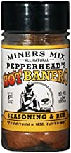 Pepperhead's HotBanero Seasoning and Rub. A Hot Southwestern Flavor with Habanero, Bhut Jolokia or Ghost Pepper, Jalapeno, Chipotle and Other Spices. 2017 Scovie Awards First Place 3 oz jar.