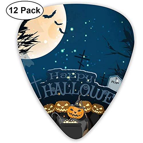 Guitar Pick Classic Picks 12er-Pack breites Poster für Halloween von Bäumen angepasst