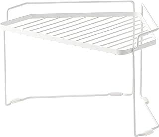 XCXDX Etagère De Cuisine Triangle, Cadre d'angle en Métal, Support De Rangement Empilable, Blanc