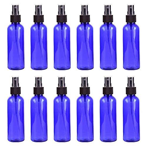 Bascar Juego de 12 botellas de espray transparentes con atomizador, botellas vacías, botellas de viaje, botellas de perfume, masaje, productos químicos, líquidos, farmacias, botellas de 30 ml