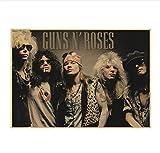 MXIBUN Nostalgisches Kraftpapierplakat Rockband Guns N