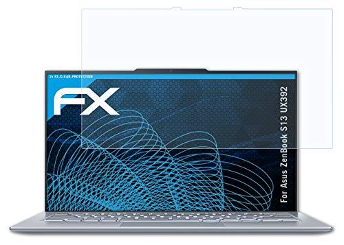 atFolix Schutzfolie kompatibel mit Asus ZenBook S13 UX392 Folie, ultraklare FX Bildschirmschutzfolie (2X)