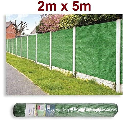 HERSIG Malla de sombreo ocultación 95% 120gr Lona Sombra Color Verde 2x5m...