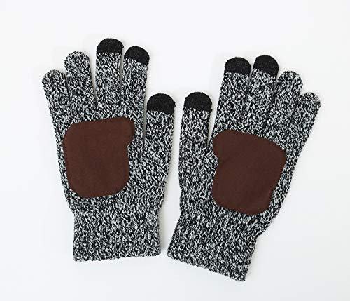 Lanzom Warm Winter Men 3 PCS Knitted Set Knit Hat + Long Scarf + Touch Screen Gloves Gift Set