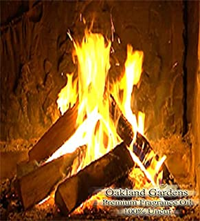 BULK Fragrance Oil - CRACKLING FIREWOOD Fragrance Oil - Warm glow of crackling warm woods blended with a hint of sweet raspberry and vanilla - By Oakland Gardens (030 mL - 1.0 fl oz Bottle)