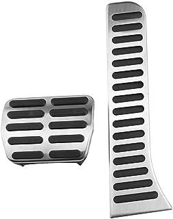 ZHHRHC Stainless Steel +Rubber Car Pedals,For Jetta mk5 Golf 5 6 Scirocco CC Rabbit EOS Tiguan Touran/Skoda Octavia A5 A...