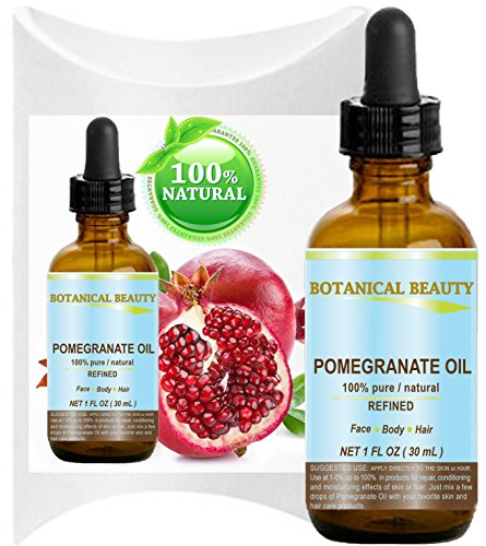 Botanical Beauty Pomegranate Oil -100% Pure, 100% Natural. For Face, Hair and Body 1 oz-30 ml