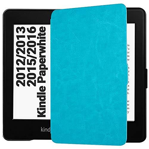 EasyAcc Funda para Kindle Paperwhite Ligera con Función de Auto-Sueño/Estela para Kindle Paperwhite 2012, 2013, 2015, Azul
