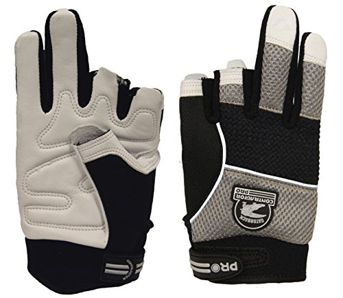 Gatorback 634 Fingerless Goat Skin Leather Professional Work Gloves. Made for Electricians, Framers, Carpenters, Contractors (Large)
