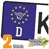 Hang Loose - Alles locker - Shaka Kennzeichen Aufkleber Sticker Nummernschild - IN 15 Farben