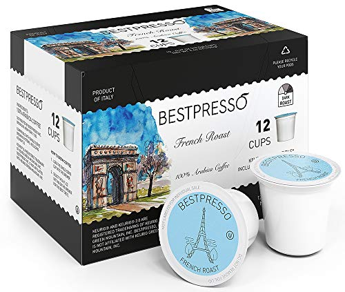 Bestpresso Coffee, French Roast Single Serve K-Cup, 96 Count (Compatible With 2.0...