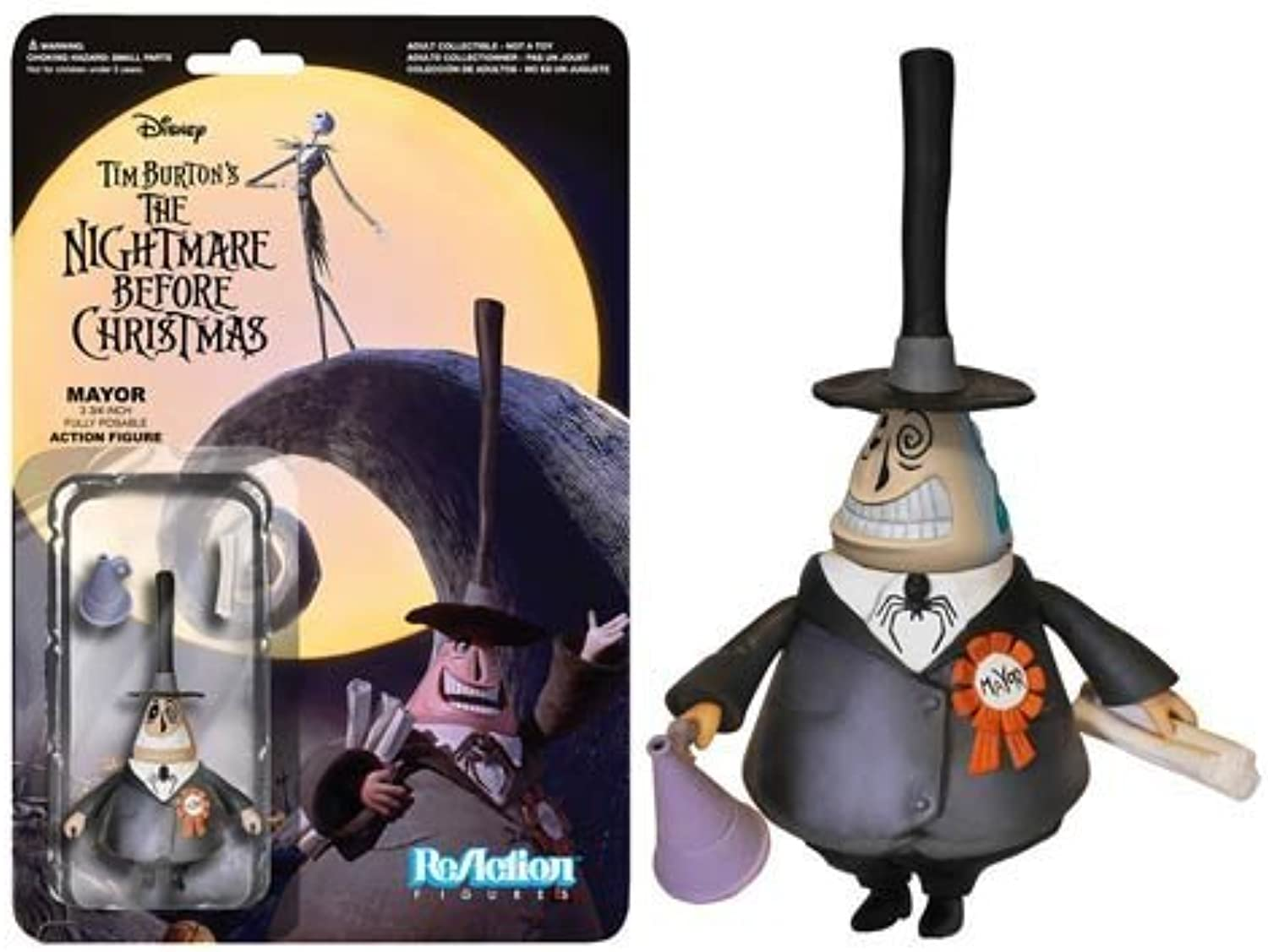 The Nightmare Before Christmas Mayor ReAction 3 3 4-Inch Retro Action Figure by Nightmare Before Christmas