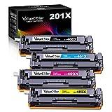 Valuecolor Compatible Toner Cartridge Replacement for HP 201X 201A CF400X CF401X CF402X CF403X CF400A Used in Color Laserjet Pro MFP M277dw MFP M277c6 M277n M252n M252dw Printer (4 Pack)