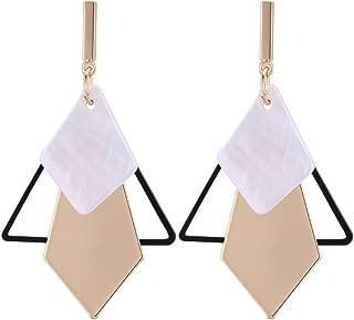 Geometric Triangle Earring Metal Simple Drop Dangle Earring Plating Gold Black Bohemian Dangling Costume Earring For Women Girl Bar Party Fashion Jewelry