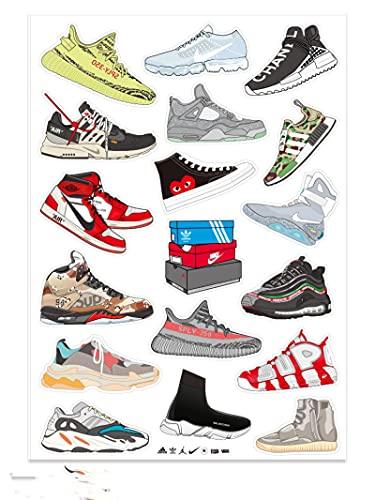Hand Accounted Sneakers Jordan Schoenen Stickers Persoonlijkheid Trendy Merk Bagage Koffer Mobiele Telefoon Notebook Skateboard Waterdicht Stickers 18 Vellen