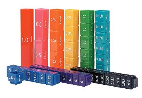 Learning Resources Resources-LER2509 Conjunto de equivalencia de Cubos Fraction Tower, Color (LER2509)