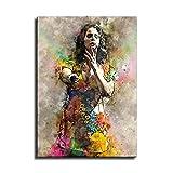 Lana Del Rey Gitarristin Aquarell Poster Kunst Leinwand