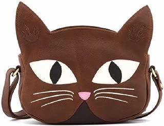 Yoshi Lichfield Leather Augustus the Cat Bag Cross Body Bag Purse