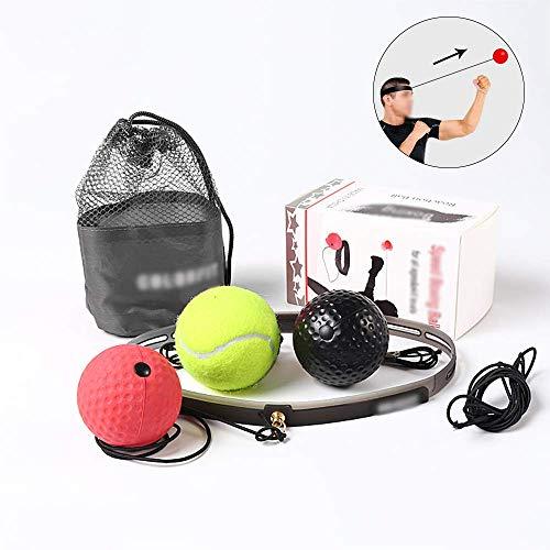 Boksen Reflex Ball, 3 Moeilijkheidsgraad Reactie Balls Met Zweetband, Verstelbare Reaction Training Ball Voor De Opleiding, De Coördinatie En Fitness.
