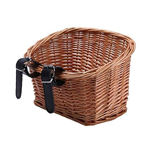 accesorios de ratán bicicletas cesta delantera de la bicicleta cesta extraíble impermeable multifunción manillar de la bici cesta del jardín