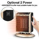 Heizradiator, 3s schnell Heizung / 2 Temperatureinstellung, mit Tip-Over and Over-Hitzeschutz, 400 / 900W Keramik Energie Heizung, für Heim und Büro Badezimmer