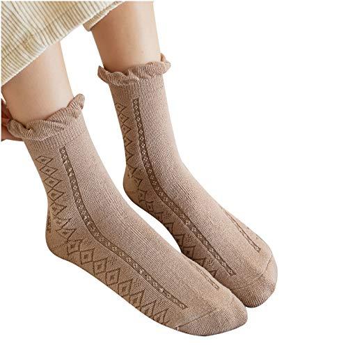 Hunpta@ Damen Frauen Socken Winter Warm Mode Atmungsaktivität Dicke Socken Nette Wollsocken