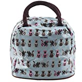 ELECTROPRIME Fashion Zipper Lunch Bag Picnic Box for Women Tote Handbag Pattern Puppy
