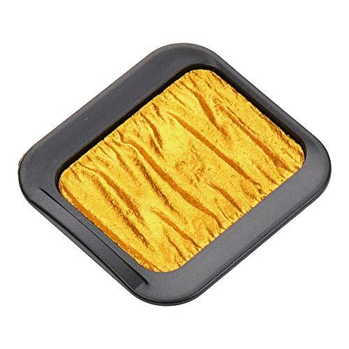 Finetec Premium Pearlescent Watercolor Pan Refill, Fine Gold (F7203C)