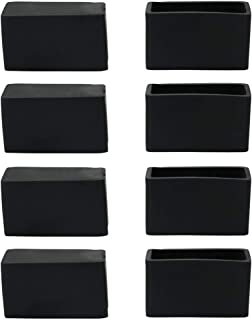 uxcell Rubber Chair Leg Caps End Pad Feet Cover Furniture Slider Floor Protector 8pcs 0.79 inches x 1.57 inches 20x40mm Inner Size, Reduce Noise Prevent Scratch