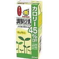 マルサン 調製豆乳 カロリー45%オフ 200ml×24本×4ケース 合計96本