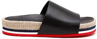 Luxury Fashion | Moncler Women 202880007772999 Black Leather Sandals | Season Permanent