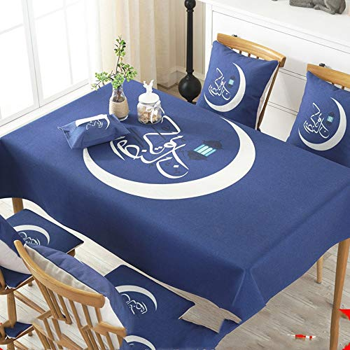 XIAOE Tablecloth Water Wipe Clean Table Cover Rectangle Table Cloth Resistant Tablecloth Wipeable Tablecloth Stain Proof Home Decoration Waterproof Outdoors 140 * 180cm