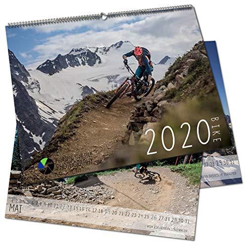 Mountainbike Kalender 2020 DIN A2 - Bike Wandkalender mit Panorama Fotos - Fotokalender Mountainbiking im Großformat 59,4 x 42 cm - von Florian Scheible