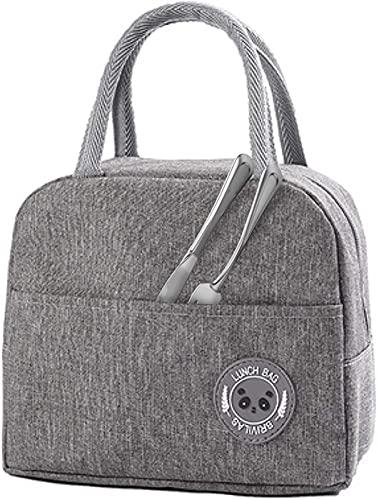 hsj LF- Bolsa de aislamiento portátil impermeable, bolsa de picnic de gran capacidad, bolsa de picnic, bolsa de almacenamiento conveniente para viajes, protección del medio ambiente (color: gris)