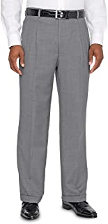 Men's Super 120s Sharkskin Pleated Suit Pants