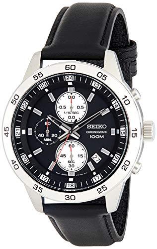 Seiko Heren Chronograaf Quartz Horloge met Lederen Band SKS649P1
